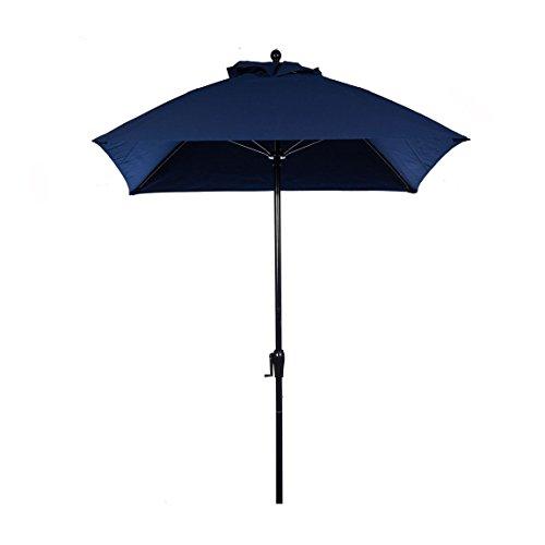 Square Fiberglass Market Umbrella - 7.5 ft. Square Commercial Grade Fiberglass Market Umbrella with Crank Lift, Acrylic Fabric and Aluminum Pole