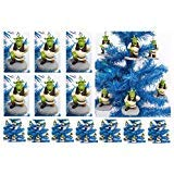 SHREK 6 Piece Christmas Tree Ogre Ornament Set - Unique Shatterproof Plastic Design Around 2.5