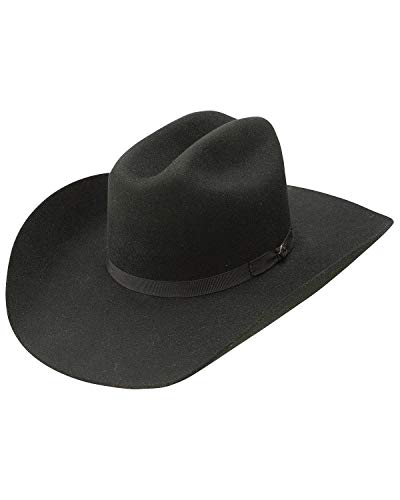 - Resistol Men's Hooey Maverick 4X Wool Felt Cowboy Hat Black 7 5/8