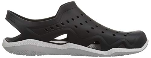 Crocs Men's Swiftwater Wave M Sport Sandal Black/Pearl White 5 M US by Crocs (Image #8)
