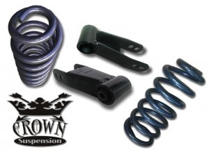 "1965-1972 Ford F100 F-100 F-Series 2-2"" Lowering Drop Kit Springs Coils Shackles"