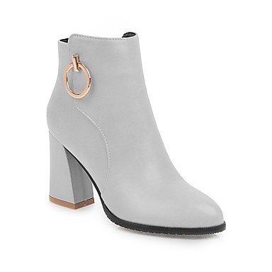 De Chaussures Confort Talon Chaussures Pointu Boucle Pour Trapu Skaï Pour Marche Noir Tenue Femmes D'hiver Bottillons Bottines Bout Des Décontractée De Bottes Chute OrzqXrxwY