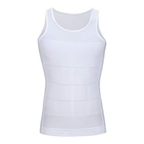 Men's Chest Compression Shirt to Hide Gynecomastia Moobs White