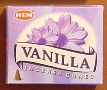 Vanilla - Case of 12 Boxes, 10 Cones Each - HEM Incense From India