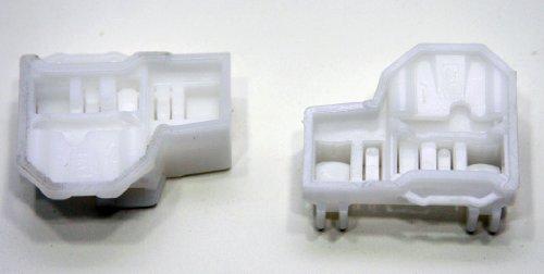 RegulatorFix Window Regulator Repair Clips (2) - FRONT LEFT (driver side) PAIR for VW Passat (B5, B5.5, B6, B7)