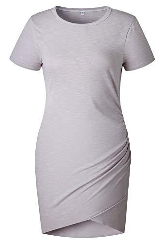 Round Sleeves Skinny Women Dress Pattern5 Coolred Irregular Neck Hem Short Sexy Mid 70SBpnqx