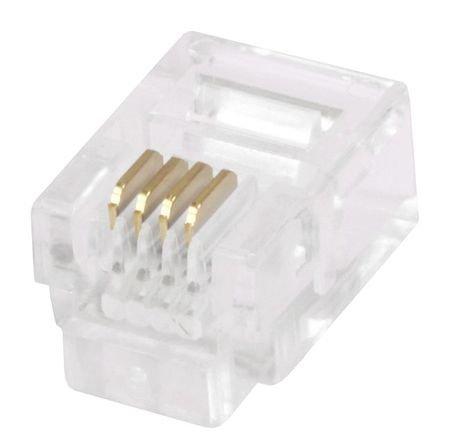 Plug, Mod, 6P4C, Strander, Stranded, PK50 6p4c Mod Plug