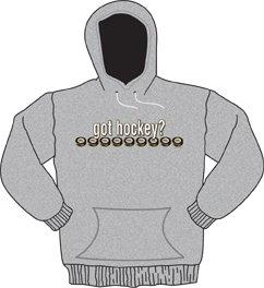 Got Hockey Hooded Sweatshirt adult large ash