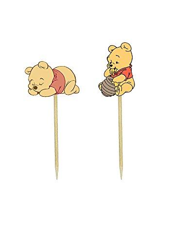 Baby Pooh Bear Inspired Cupcake Toppers - Birthday Cake Pooh Bear