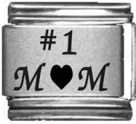 Number 1 Italian Charm (Number 1 Mom Laser Italian Charm)