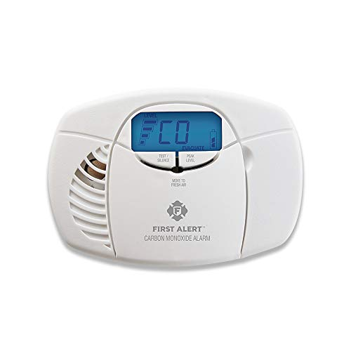 First Alert Carbon Monoxide Detector Alarm|No Outlet Required with Digital Display and Peak Memory, Battery Operated, - Warn Accessories Multi Mount