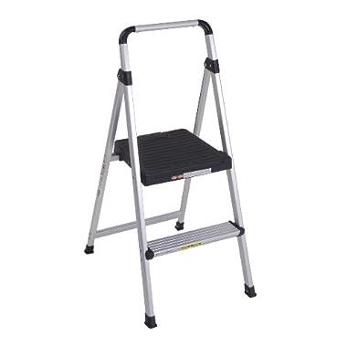Cosco 11-628ABK4 Lite Solutions Aluminum Frame Step Ladder, 2-Step, Gray
