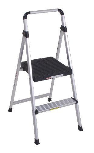 Cosco 11-628ABK4 Lite Solutions Aluminum Frame Step Ladder, 2-Step, Gray