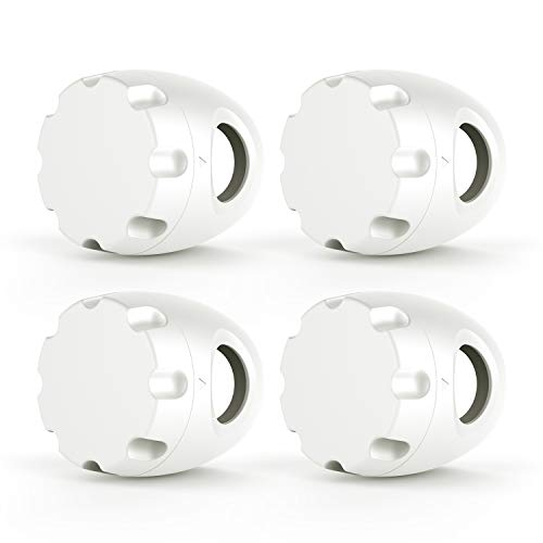 Uxoz Door Knob Safety Cover, 4 Pack Baby Safety Door Handle Cover, Screw Thread Design, Reusable, Reliable Solution to Prevent Kids from Popping Off The Covers