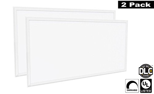 Luxrite LR24059 (2-Pack) 72W 2x4 FT LED Panel, Dimmable, Daylight White 6500K, 6500 Lumens, 24x48 Inch, UL-Listed, DLC-Listed (Eligible for Rebate Programs)