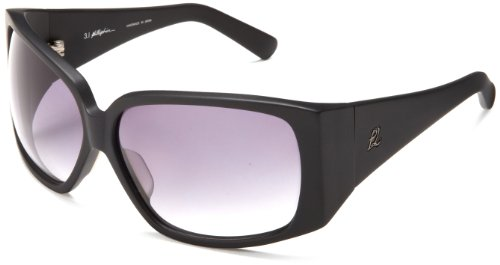 3.1 Phillip Lim Women's Skyler Oval Sunglasses,Matte Black,66 - Lim Designer