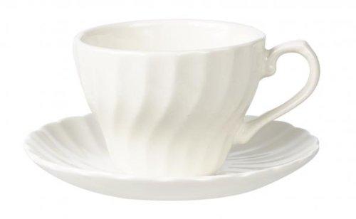 Churchill Chelsea White Teacup & Saucer (Set of 6) (Chelsea Saucer)