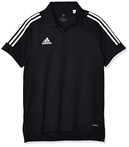 adidas CON20 Polo Shirt (Short Sleeve) Mens, Black/White, 4XL
