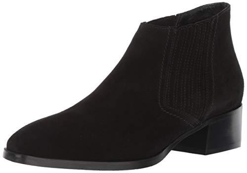 Aquatalia Women's Fiore Suede Ankle Boot, Black, 5.5 M US