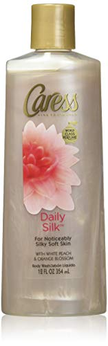 Caress Daily Silk Body Wash with White Peach and Silky Orange Blossom, 12 Ounce Bottles Pack of 6