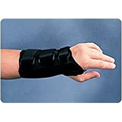 Sammons Preston 55476202 Canvas Wrist Splint, Right, XS, Orthopedic Support Brace for Tendonitis, Inflammation, Carpal Tunnel, Injuries and Pain, Full Finger