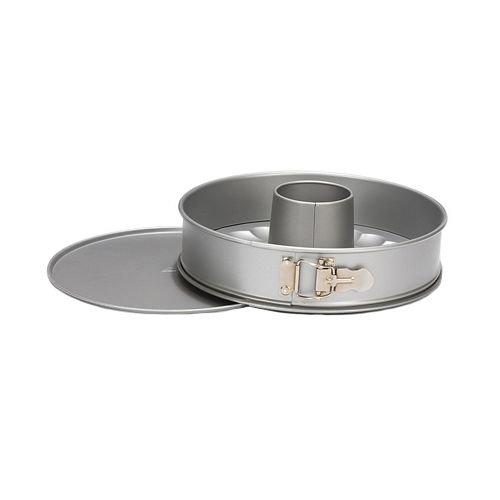 Patisse Silver-Top Springform 2-Bases Nonstick Pan, Silver Grey