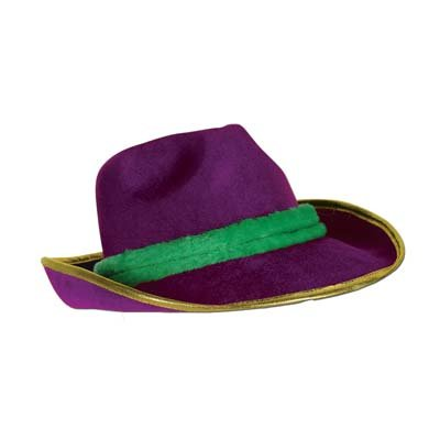 Mardi Gras Vel-Felt Fedora Party Accessory (1 count)