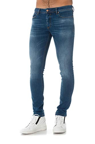 Hombre Sleenker Medium Denim Blue Diesel Vaqueros x4fTCBwqwF