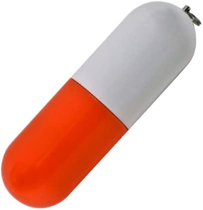 Pill USBフラッシュドライブ 64MB 2372-Red-100