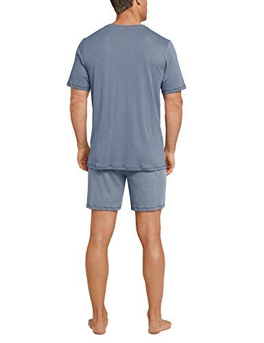 Anzug Grigio Schiesser Pantaloni Uomo 209 Pigiama Kurz graublau xqddRTXw