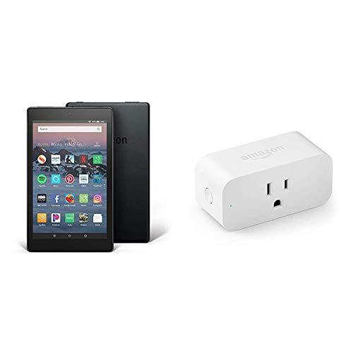 Fire HD 8 Tablet (8' HD Display, 16 GB, Black) with Amazon Smart Plug