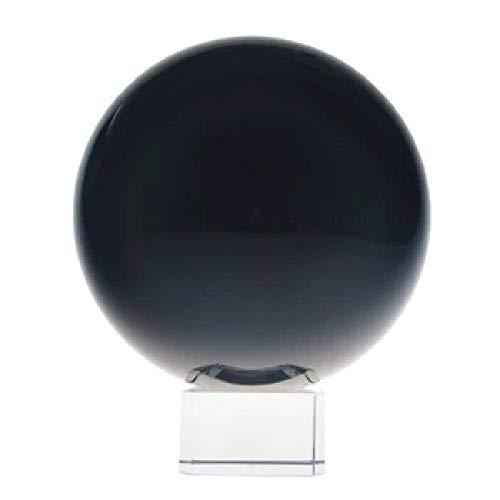 5billion 100mm Black Magic Crystal Ball Feng Shui Ball Home Decor Glass Ball Rare Good Luck Wedding Gift Fashion Exercise Transparent 100 Mm Black Magic