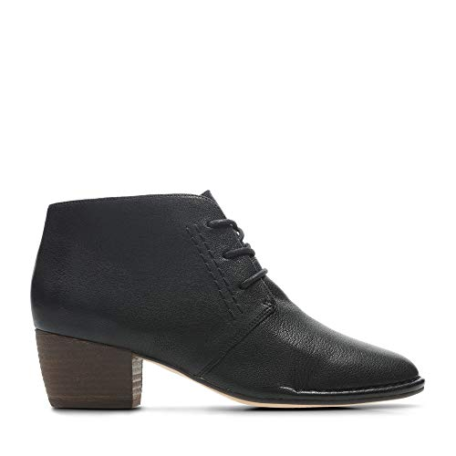 Leather Clarks Charm Spiced Black Boots in 1nfUxqAn
