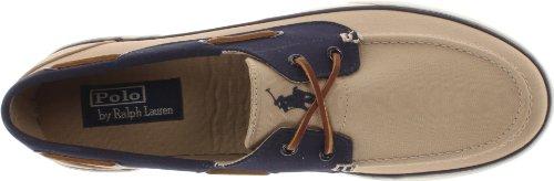 Polo Ralph Lauren Menns Lander Ii Mote Sneaker Khaki / Newport Navy