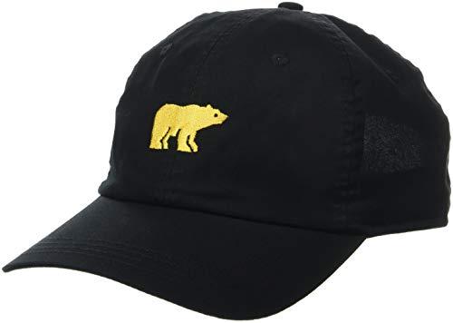 Jack Nicklaus Men's Classic Golf Hat, Center Golden Bear Black, One Size