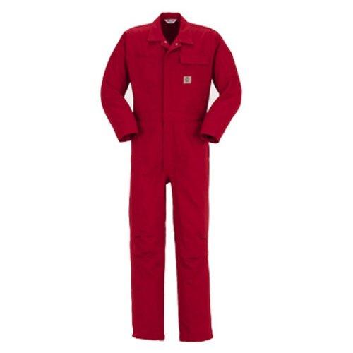 PERSON'S (パーソンズ)長袖つなぎ ツナギ おしゃれアメリカンスタイル 親子ペアyt-p017 B008H1U7HK S|レッド