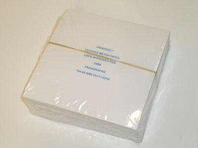 Pitney Bowes Postage Meter Tapes, Quad tape Sheet, 75 strips/pack, 300 Impressions