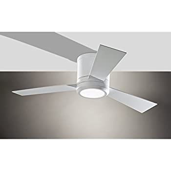 "Monte Carlo 3CLYR52BSD Clarity Flush Mount 52"" Brushed Steel"