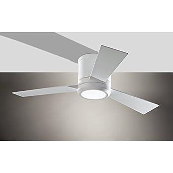 Monte carlo 3clyr42rzwd clarity ii flush mount 42 white ceiling monte carlo 3clyr42rzwd clarity ii flush mount 42 white ceiling fan with led light aloadofball Images