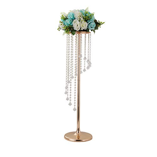 LANLONG 27.5'Tall Wedding Table Centerpiece, Candle Holder, Candlestick, Road Lead Flower Stand, Wedding Home Christmas Decoration Christmas Decor Decorations for Living Room (Gold, 27.5') -