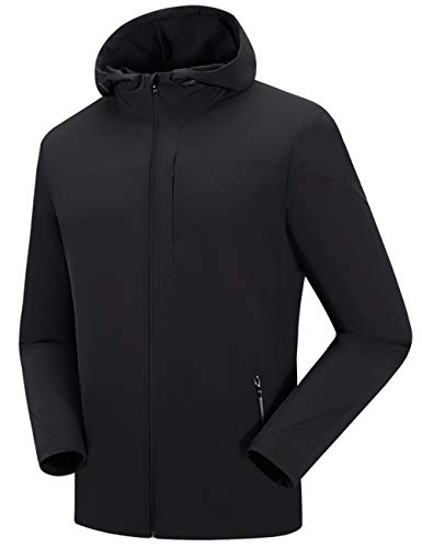 Men's Windproof Softshell Cycling Winter Jacket Black ()