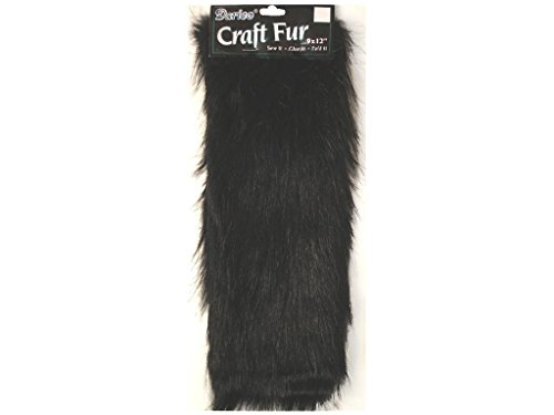 Darice Craft Fur 12 Inch Black