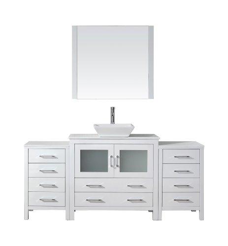 Virtu USA KS-70072-S-WH Modern 72-Inch Single Sink Bathroom