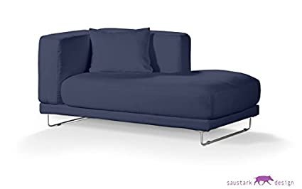 Sylt Navy Slipcover For Ikea Tylösand Chaise Longue With