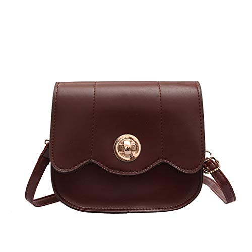 Hand Bags for Women Under 20,Backpack Purse Diaper Bag,Women Lock Buckle Wild Cute Messenger Bag Shoulder Bag Small Square Bag Brown