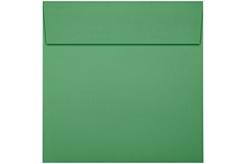 6 x 6 Square Envelopes w/Peel & Press - Holiday Green (50 Qty.)   Perfect for Thank You Notes, RSVPs, Greeting Cards, Weddings or Any Announcement   80lb Text Paper   8525-12-50