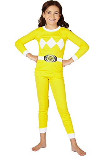 Power Ranger Girls' Little Pajama Set, Yellow, 6 ()
