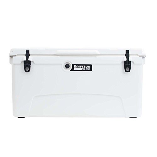 Driftsun 110-Quart Ice Chest, Heavy Duty, High Performance Roto-Molded Commercial Grade Insulated Cooler, White