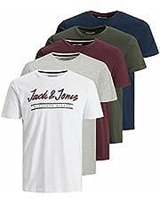 JACK & JONES Jjherro Tee Ss Crew Neck 5pk Mp heren T-Shirt