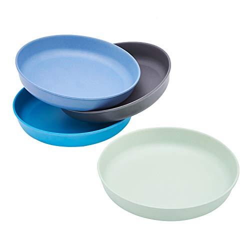 4pcs Bamboo Kids Plates